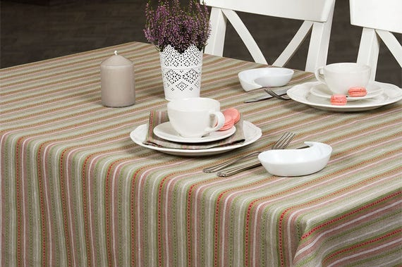 Colorful Tablecloth With Stripes Table Cover Table Cloth   Etsy