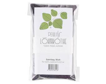 Scent bag with birch essential oil. Lõhnakotike kase eeterliku õliga.