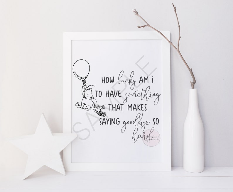 How Lucky Am I Printable Classic Winnie The Pooh Printable Etsy