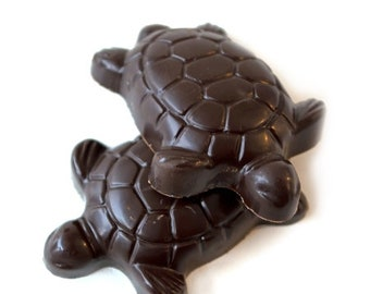 Caramel Turtle in Milk or Dark Chocolate, NUT FREE, 12 count