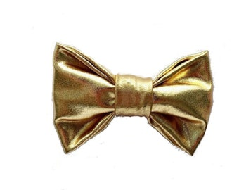 4b86bf294c7f gold metallic bow tie Men and boys