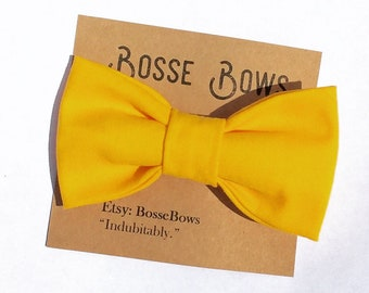 Yellow Bow tie,  Ring bearer, Yellow Baby bow tie, Wedding bow tie, Boys yellow bow tie, Mens Bow tie, Bow tie for kids, Cake smash boy