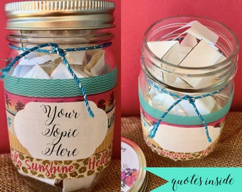 The Beach is Calling, Jar of Notes, Jar of Quotes, Encouragement Gift, Inspirational Jar Quotes, Happiness Jar, Positivity Jar, Friend Gift