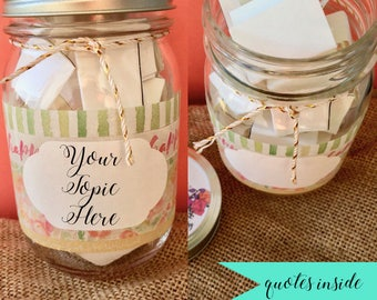 Watercolor Wonder, Jar of Notes, Jar of Quotes, Encouragement Gift, Inspirational Jar Quotes, Happiness Jar, Positivity Jar, Friend Gift