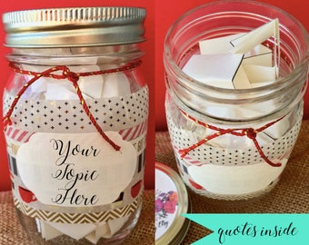 But First Coffee, Jar of Notes, Jar of Quotes, Encouragement Gift, Inspirational Jar Quotes, Happiness Jar, Positivity Jar, Friend Gift