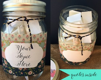 Camera Ready Jar Of Notes Jar Of Quotes Gift Encouragement Etsy