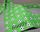 Für Fußball-Hunde und andere Fans - Fussballtuch - Hundehalstuch zum Binden
