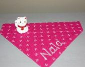 Fröhliches Pink für Hundemädchen **Nur noch eins** pink mit Anker  -Tuch mit Tunnel