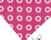 Sternsignal pink - Hundehalstuch mit Tunnel