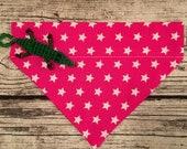 Aktion - Sterne auf pink - Hundehalstuch mit Tunnel, 20 cm