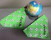 Für Fußball-Hunde und andere Fans - Fussballtuch - Hundehalstuch mit Tunnel