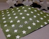 Olivgrün mit Sternen - Hundehalstuch mit Tunnel
