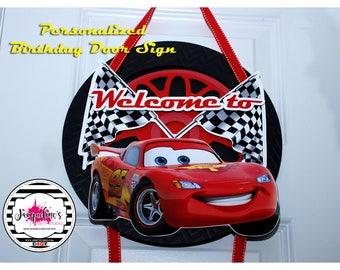 McQueen Sign, McQueen Birthday Sign, Cars Birthday Sign, McQueen Sign