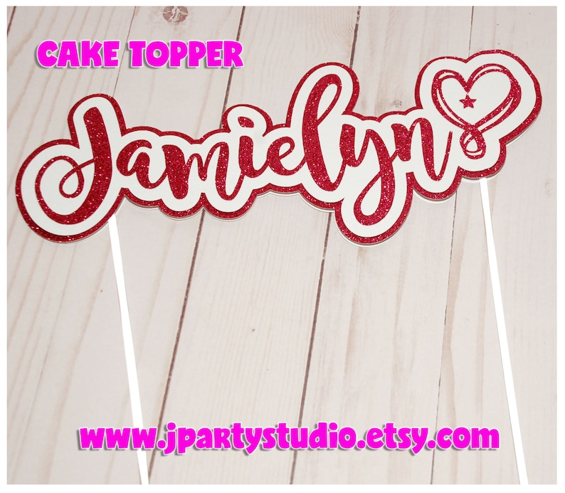 Glitter Fashion cake topper Personalized cake topper Fashion Cake topper Girls Cake topper
