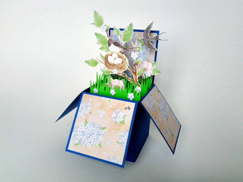 3D Pop Up Lily Flower Greeting Cards Happy Birthday Mothers Day Gift Pretty