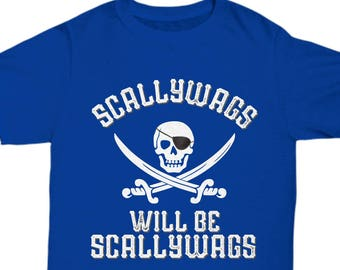 5aae0bc4 Adult Pirate Shirt, Funny Mens Shirts, Womens Graphic Tees, Buccaneer Pirate  tshirts, Pirate Birthday Party, Gifts for Men, Pirate Scallywag