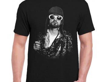 0c7b7b1dd7db5 Kurt Cobain Celebrities Men Tee Shirt T-Shirts Black   Dark Gray