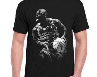 e5587aeaf82be0 Michael Jordan Celebrities Men Tee Shirt T-Shirts Black   Dark Gray