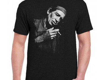 3a12229c7 Mick Jagger Celebrities Men Tee Shirt T-Shirts Black   Dark Gray