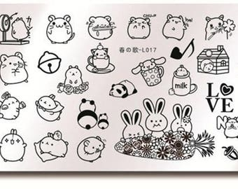 Nail Art Stamping Cute Rabbit Design Theme DIY Manicure  Stamp Template Image Plate Stencil