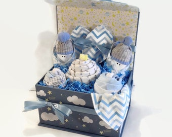 Baby Boy Gift Basket New Mom Best Shower