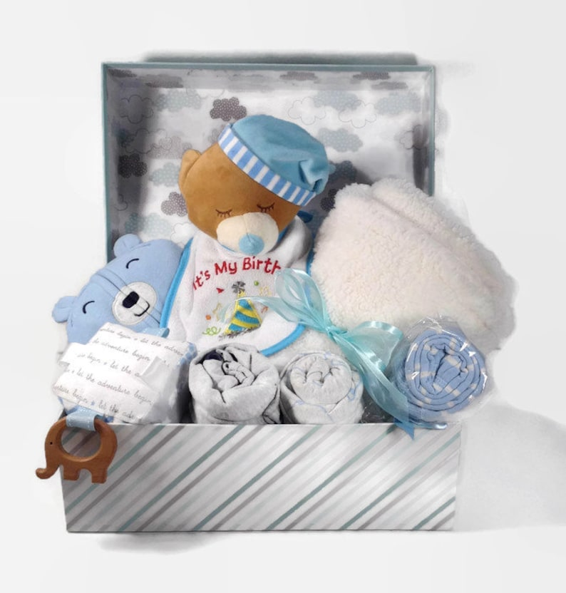 Babies First Birthday Gift Basket One Year