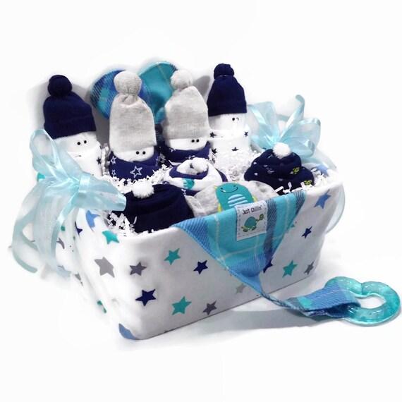 Baby Boy Gift Basket New Mom Gift Basket Baby Shower Gift Etsy