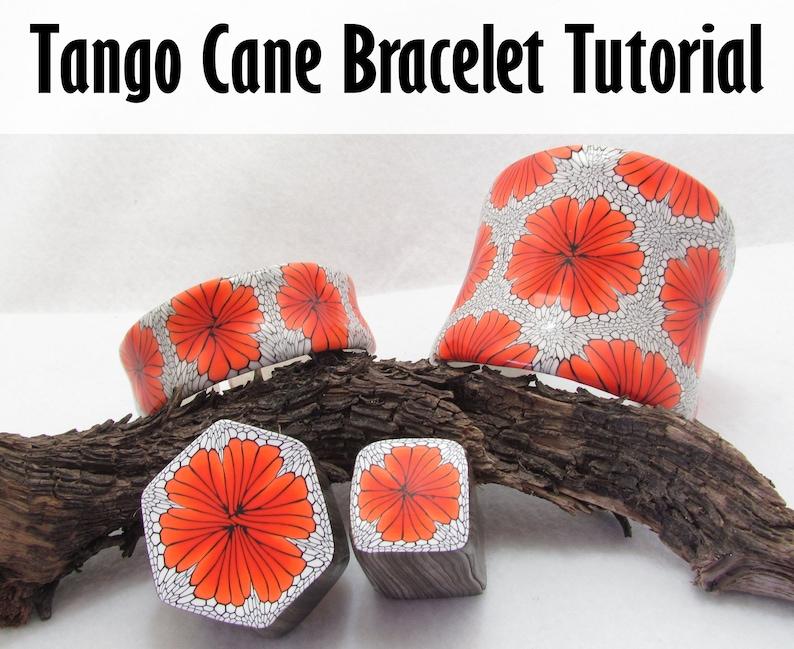 Tango Cane Polymer Clay Bracelet Tutorial image 0