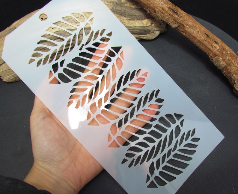 Bracelet Stencil Palm Leaves