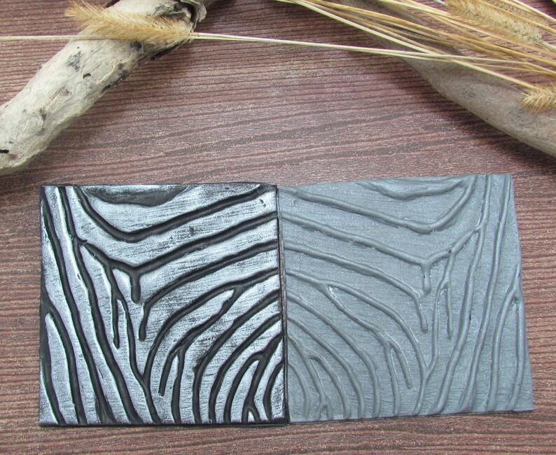 Quagga Polymer Clay Stamp (Reverse)