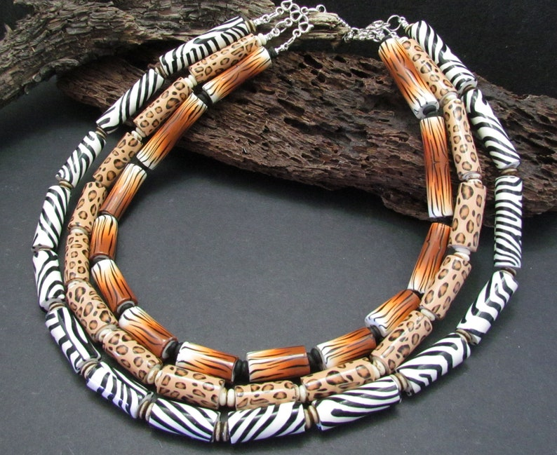 Polymer Clay Animal Safari Necklace Tutorial