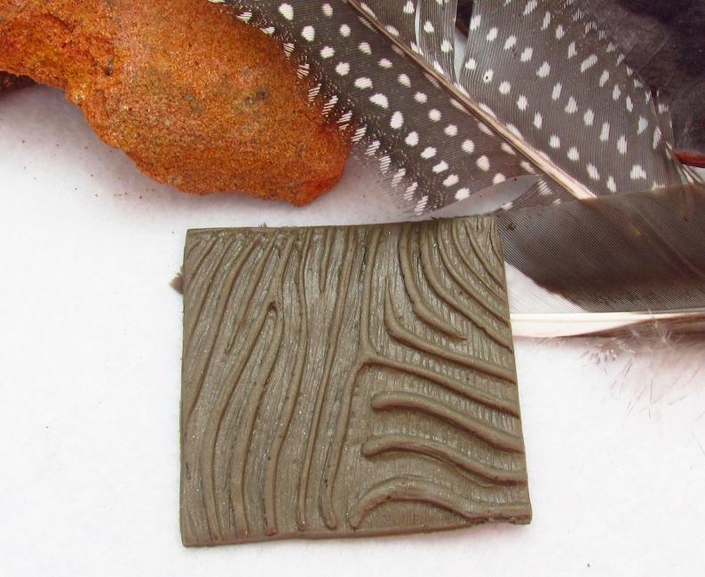 Zebra Reverse Polymer Clay Texture Stamp