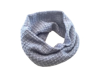 Icy Blue Boucle Infinity Scarf