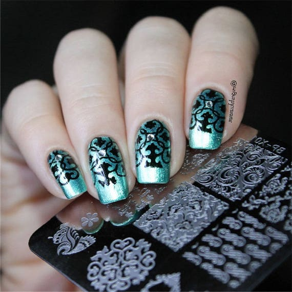 1pc New Nail Stamping Plates Flower Butterfly Fruit Pattern Etsy