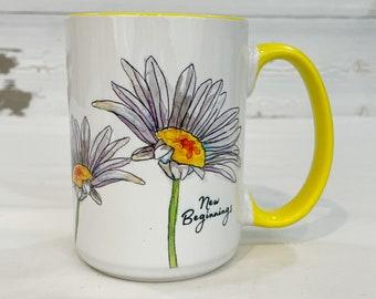 Daisy Mug Etsy