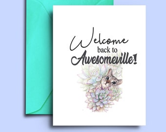 welcome back card printable