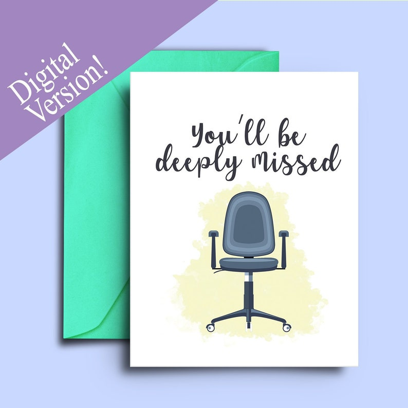 photograph about Printable Farewell Card referred to as Do it yourself Printable Farewell Card for Coworker Leaving, Goodbye Notice for Colleagues - Youll be deeply ignored