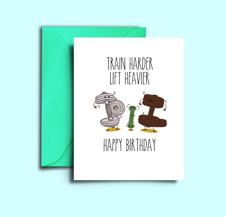 Printable Crossfit Birthday Card For Workout Fitness