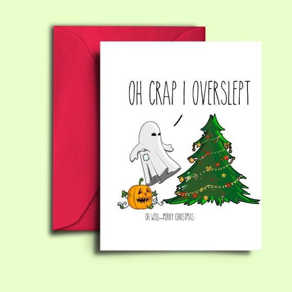 Christmas printable card funny halloween themed holiday etsy image 0 m4hsunfo