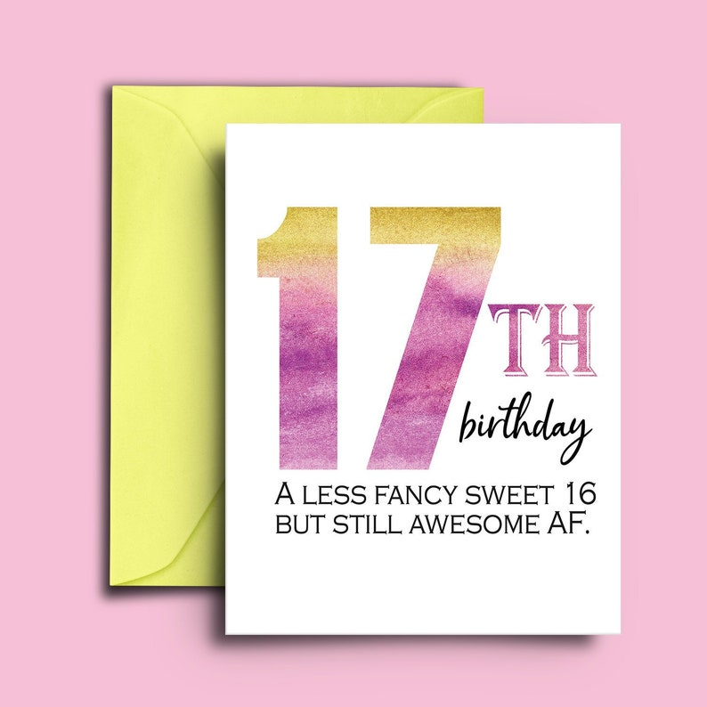 17th Birthday Card For Teenagers Sweet 17