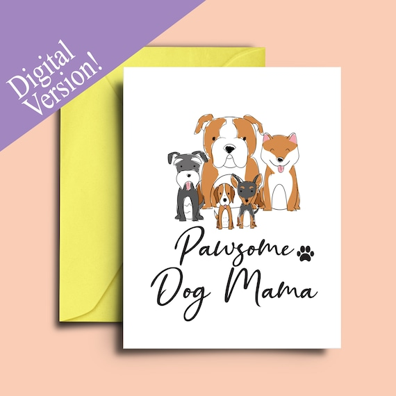 Mothers Day Card From The Dog Mum Mam Mom Fur Baby Basset Hound