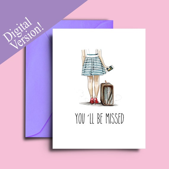 Goodbye Cards For Friends Going Away Card Printable A5 Etsy