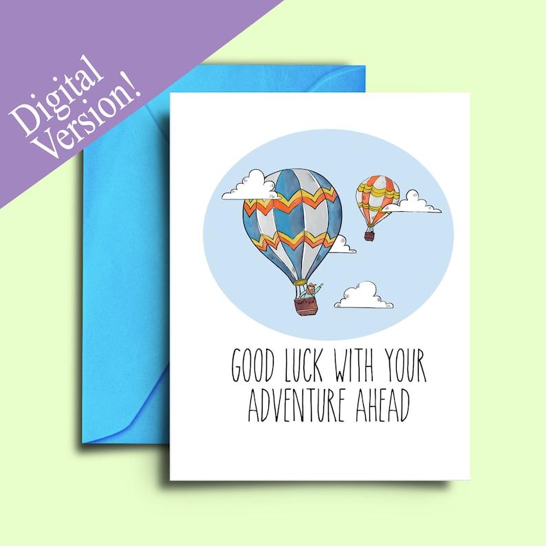 farewell card for friends hot air balloon printable good