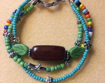 3 Strand seed bead bracelet