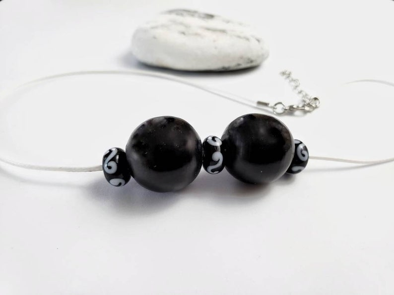 Simply elegant Black Panther inspired bead necklace Wakanda image 0