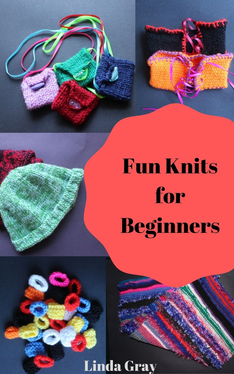 Easy knitting patterns Fun Knits for Beginners knitting image 0