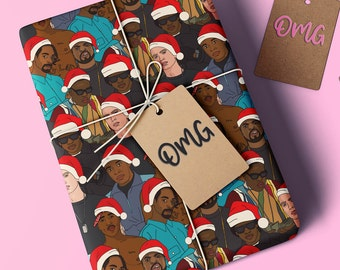 Xmas Rapping Paper | Snoop Dogg | Dr. Dre | Ice Cube | Eazy E | 2Pac | Notorious B.I.G. | Eminem | Christmas Gift Wrapping Paper