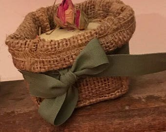 Promotional bags in Jute canvas-Favors