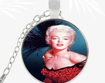 Marilyn Monroe Locket necklace, necklace, retro pendant, actress, Christmas gift jewelry