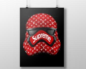 5147f821d985 LOUIS VUITTON art poster, Star Wars art print, Storm Trooper Art Print, lv  print, urban art, hip hop art, Hypebeast Art Print, Supreme Print
